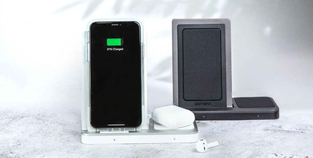 Defense™ by X-Doria Launches Fast Charging Dual Qi Charger made with Luxury Leather and Metal-Chargerlab