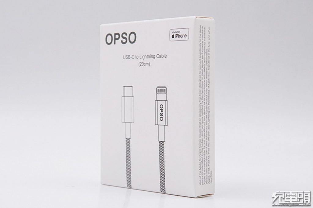 OPSO 20cm USB-C to Lightning Short Braided Cable Review: Perfect Companion for Power Banks-Chargerlab