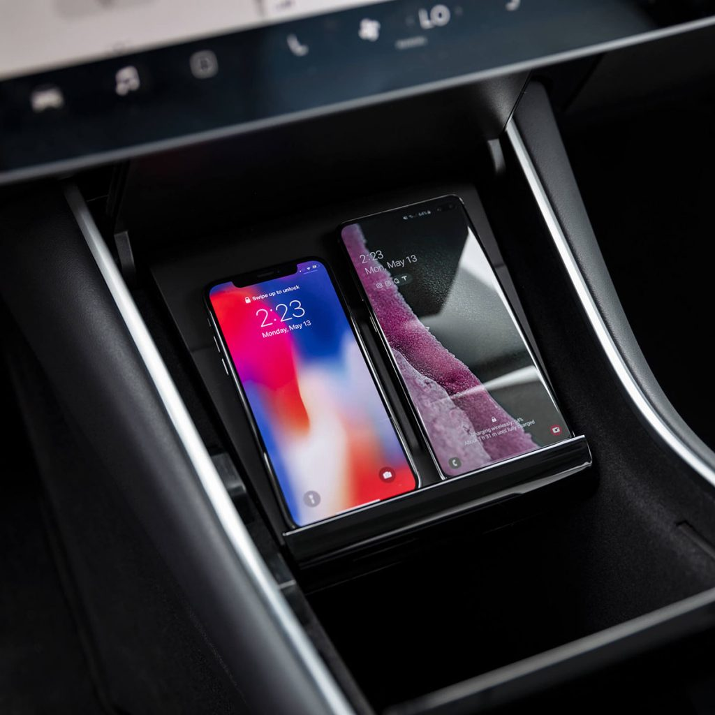 Tesla Launches Qi Wireless Phone Charger for Model 3-Chargerlab