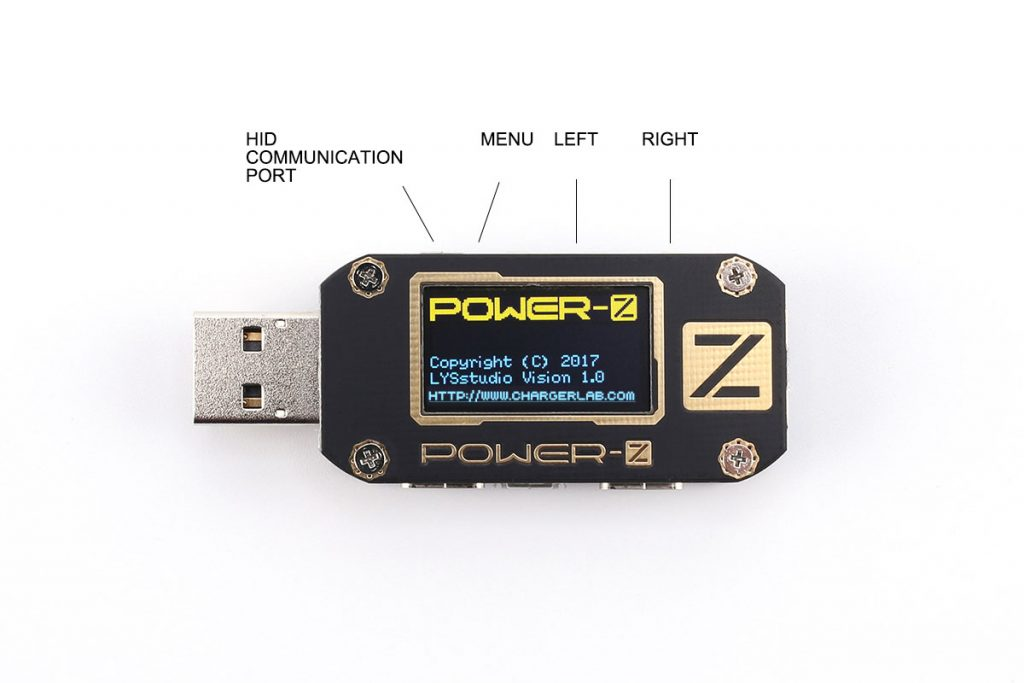 POWER-Z KM001 USB Power Tester Voltage Current Ripple Dual Type-C Meter-Chargerlab