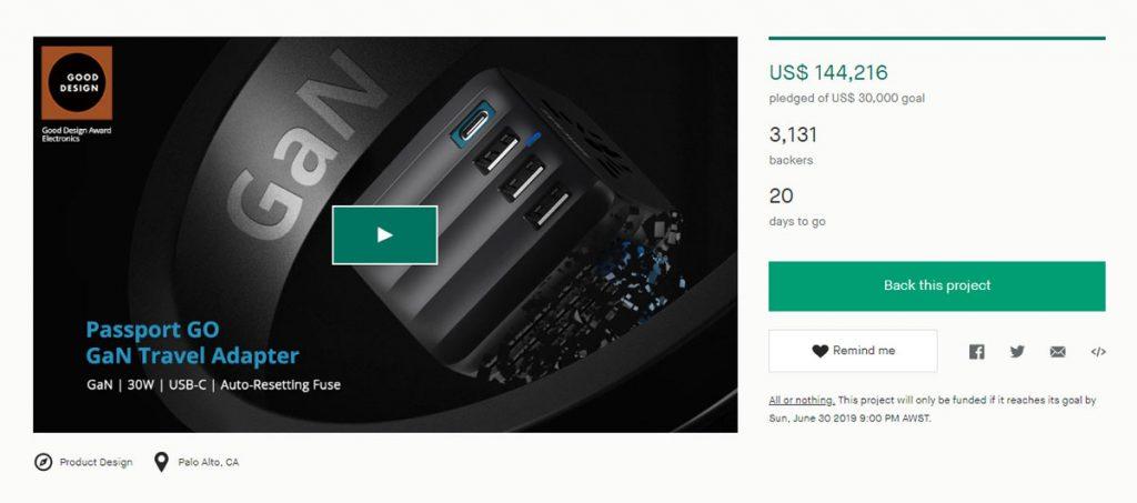 Zendure's Passport GO with GaN Technology Raised Over $100k in its First Week on Kickstarter-Chargerlab